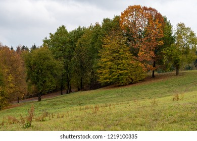 beautiful countryside in autumn time