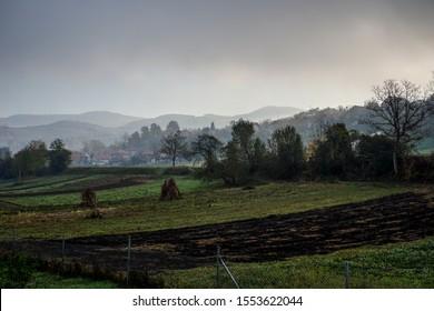 Beautiful countryside in the morning, Bosnia