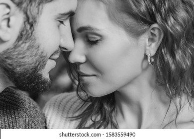beautiful couple in love close up. intimacy between a man and a woman. the concept of the relationship