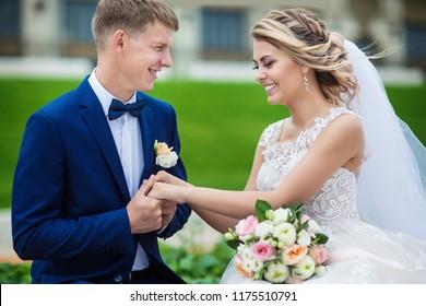 beautiful couple in love newlyweds