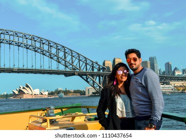 a beautiful couple on a holiday to Sydney