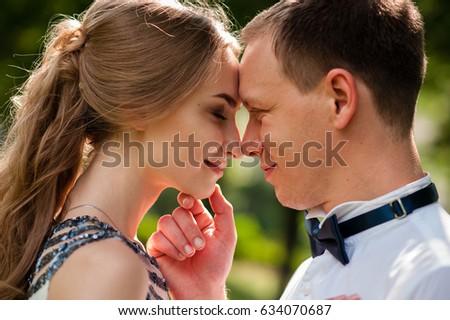 Couple snogging