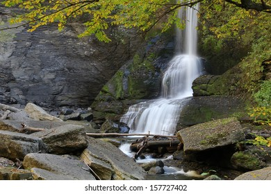 Beautiful Cow Shed Falls at Fillmore Glen State Park, Moravia, New York