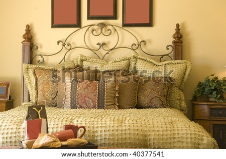 Beautiful Cozy Traditional Style Bedroom Decor Stock Photo Edit Now