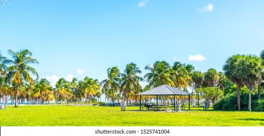 Beautiful Crandon Park Beach in Key Biscayne in Miami