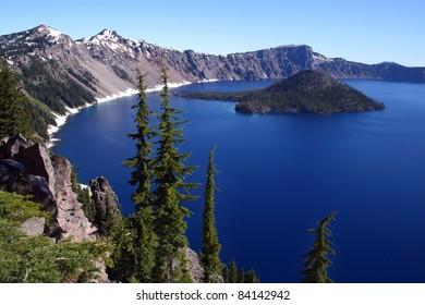 Beautiful Crater Lake in southern Oregon
