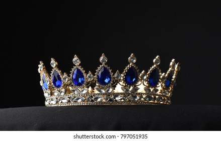 beautiful crown on black background