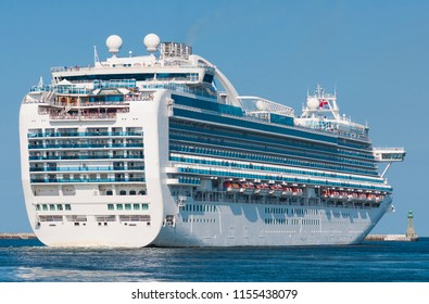 Beautiful cruise ship on a holiday cruise.