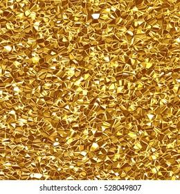 Beautiful crumpled  golden background. Gold foil texture