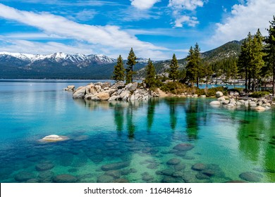 The beautiful crystal clear waters of Lake Tahoe