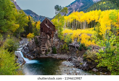 Beautiful Crystal Mill with Fall Colors