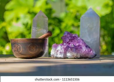 Beautiful Crystals and a Singing Bowl