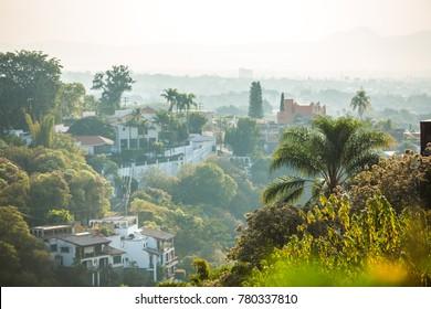 Beautiful Cuernavaca city landscape with houses