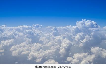beautiful cumulus cloud on the horizon