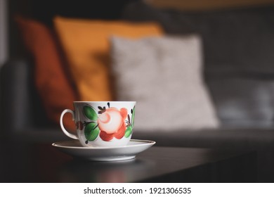 Beautiful cup of coffee on the table