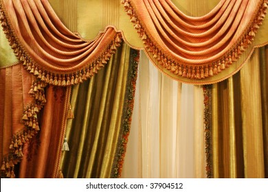 beautiful curtain on  window