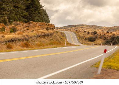 Beautiful curve road for Long way to go concept background.