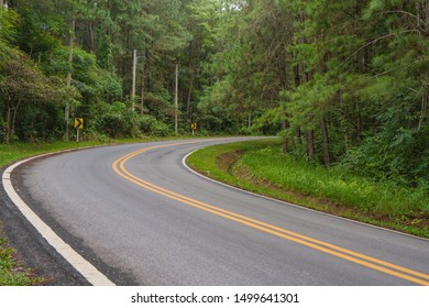 Beautiful of curved road on the mountain.