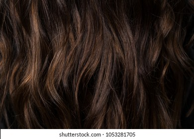 Beautiful Curvy Dark Brown Hair With Chocolate Highlights I Photographed In The Beauty Salon During