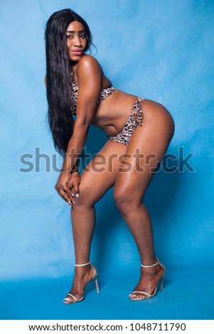 Curvy ebony women