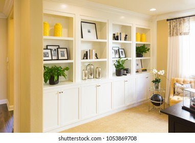 Beautiful Custom Shelves and Cabinet Built-in Interior.