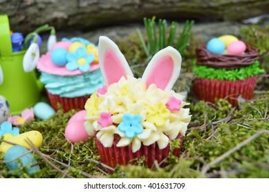 Beautiful cute Easter cupcakes