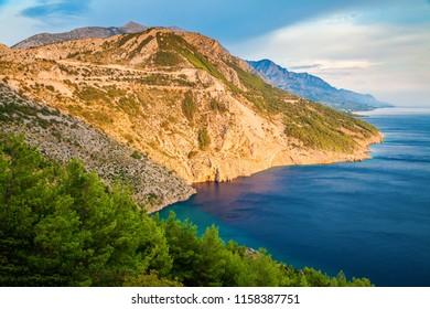 beautiful Dalmatian coast of Adriatic sea, Makarska Riviera, Croatia