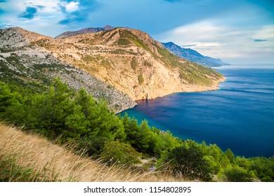 beautiful Dalmatian coast, Makarska Riviera, Croatia