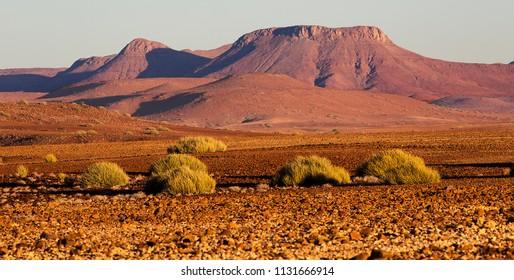 Beautiful Damaraland in Namibia, rocks and desert