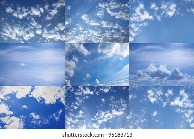 The beautiful dark blue sky with clouds