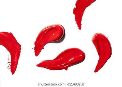 Beautiful dark red lipstick for cosmetics advertising.