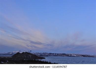 A beautiful dark sky in Iceland