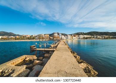 Beautiful day in the city of Roses, in Cap de Creus peninsula, Catalonia, Spain