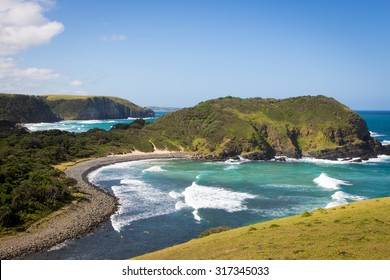 Beautiful day in Coffee bay in the Wild Coast region, South Africa, Africa