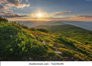 beautiful day and nights mountains landscapes