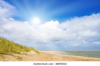 Beautiful day at the North Sea