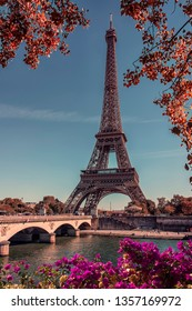 beautiful day on the Eiffel Tower in Paris