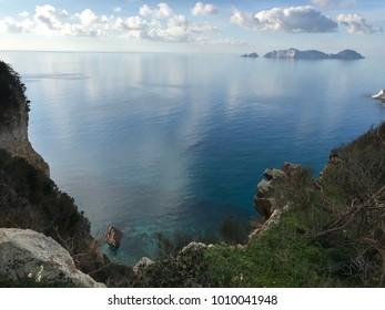 Beautiful day with panorama on island