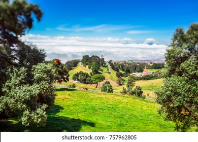 A beautiful day in the San Juan de Chicuá province of Cartago in Costa Rica, shot with tilt shift lens.