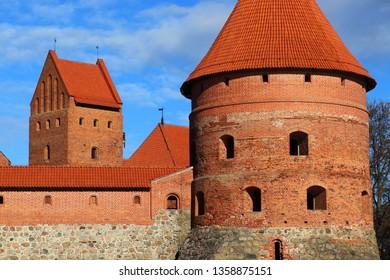 Beautiful day in Trakai Island Castle, Trakai , Lithuania.