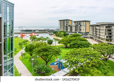 Beautiful day view of the Darwin Waterfront, Australia, in a moment of tranquility