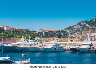 Beautiful day view of Port Hercules, Monte Carlo, Monaco