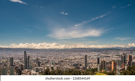 beautiful december sky over the city of Bogotà, Colombia, South America.