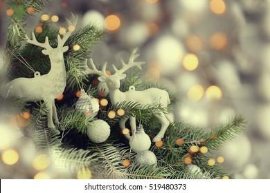 Beautiful decorated Christmas tree