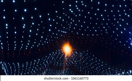 Beautiful decoration lights isolated unique abstract background stock photograph