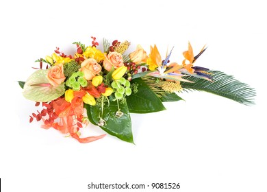 Beautiful decoration with many flowers