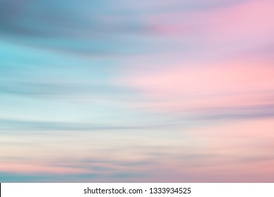 Beautiful defocused sunset sky natural background with  blurred panning motion.
