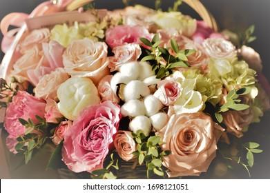beautiful delicate flowers in a beautiful bouquet
