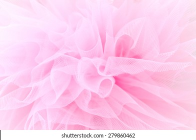 Beautiful delicate pink background mesh fluffy fabric