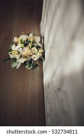 beautiful and delicate wedding bouquet of flowers for the bride